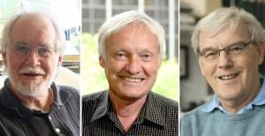 De izquierda a derecha: Jacques Dubochet, Joachim Frank y Richard Henderson.