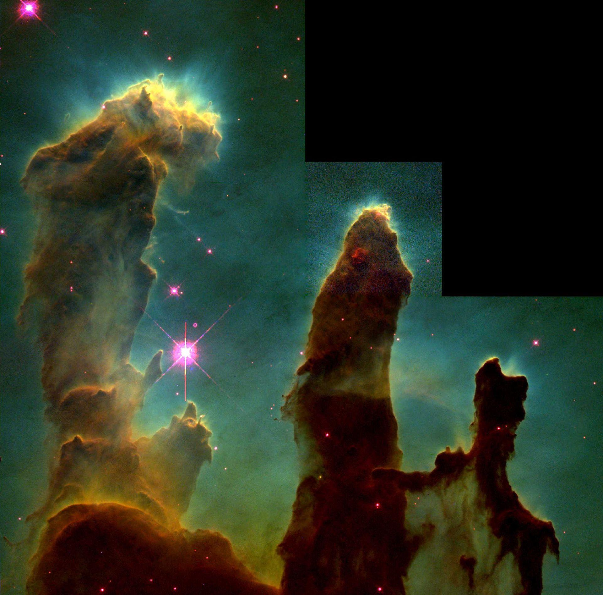 Nebulosa del Águila con estrellas en formación.