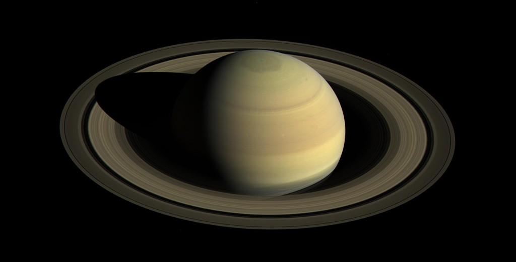 Hemisferio norte de Saturno visto desde Cassini (NASA, 2016).