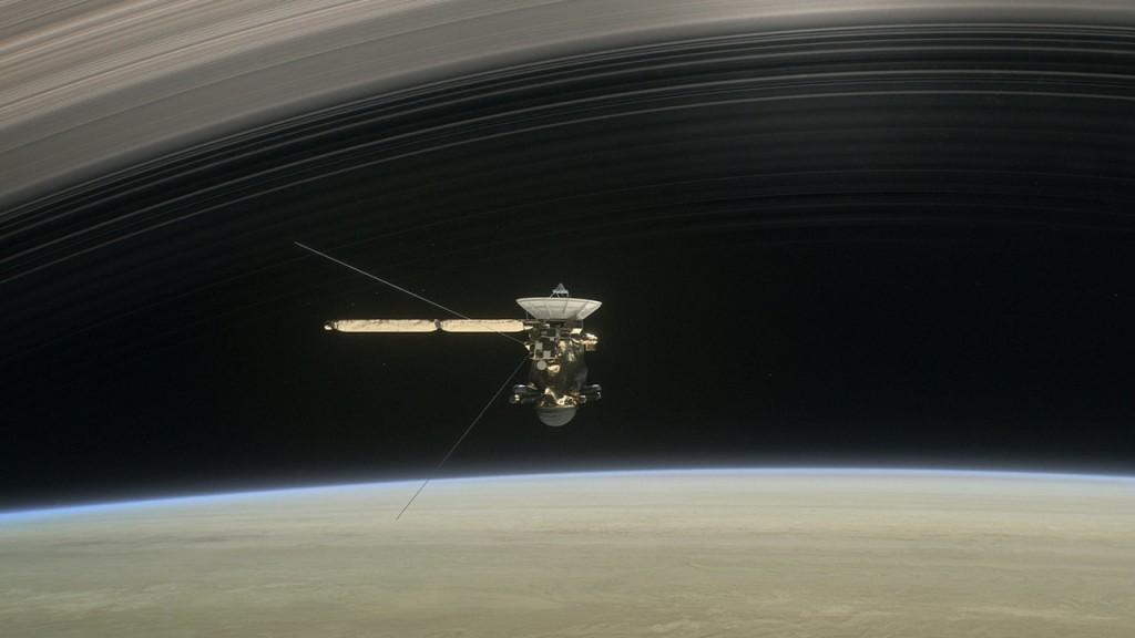 Cassini entre Saturno y sus anillos.